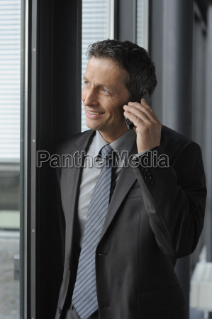 germany bavaria munich businessman talking on