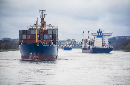 germania veduta della nave container nel