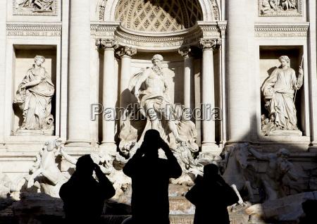 italia roma vista dalla fontana di