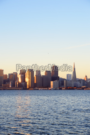 usa california san francisco skyline of