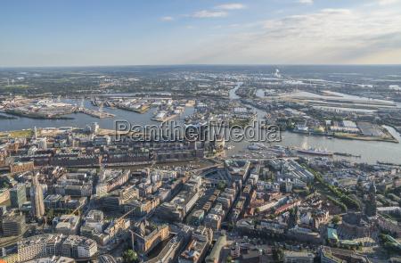 germania amburgo vista aerea del centro