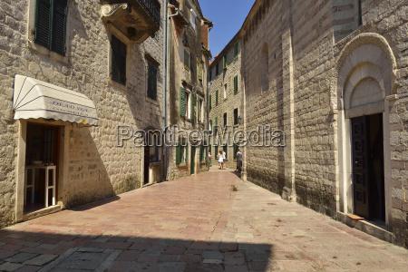 montenegro crna gora piccola piazza nella