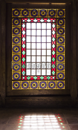 iran shiraz stained glass window of