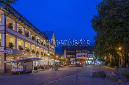 germania baviera oberstdorf piazza del mercato