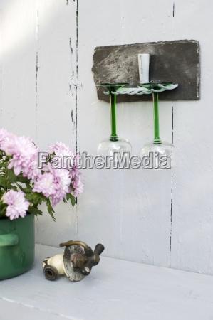 bicchiere fiore pianta muro fotografia foto