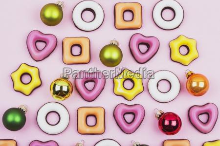 biscotti e palline di natale