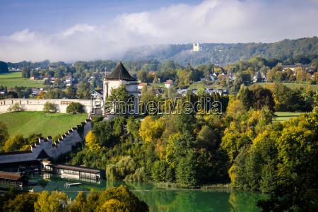 germany bavaria burghausen view to the