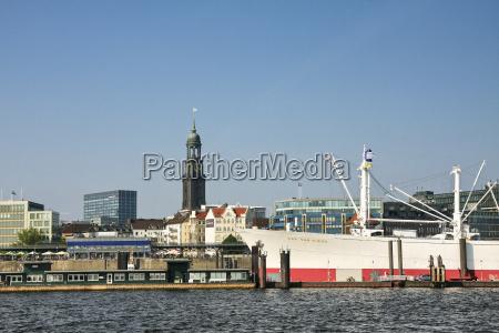 germania amburgo porto di amburgo st