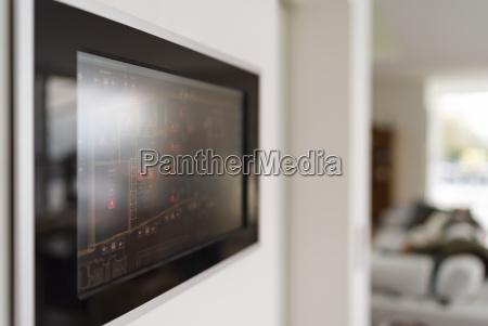 pannello di visualizzazione della tecnologia domestica