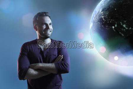 blu risata sorrisi universo futuro guardare