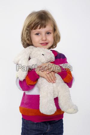 risata sorrisi ritratto giocattolo coniglio in
