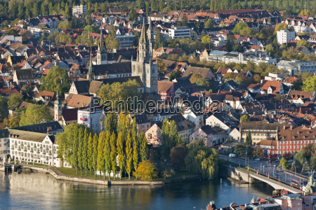 germany baden wurttemberg constance aerial view