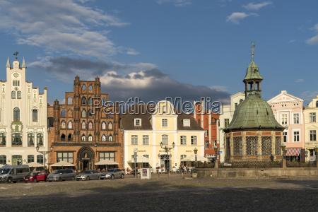 casa costruzione storico nuvola germania piazza