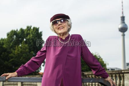 alla moda trendy cappello ritratto eleganza