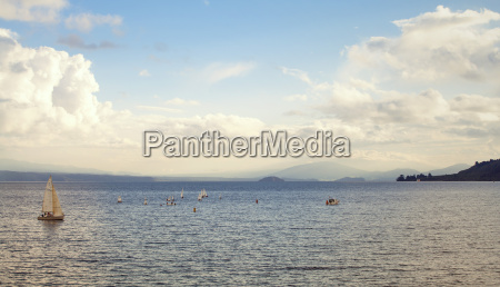 new zealand view to lake taupo
