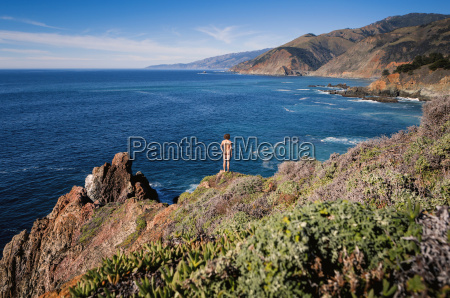 usa california big sur coast rear