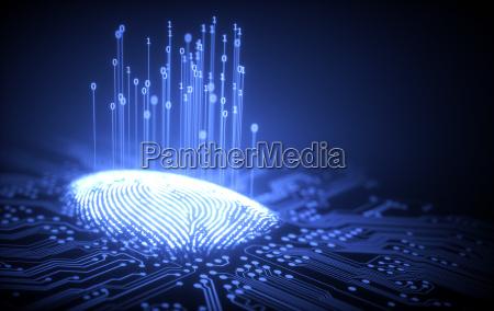 dito spia futuristico verifica digitale stampa