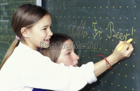 educazione caucasico europeo orizzontale lavagna giorno