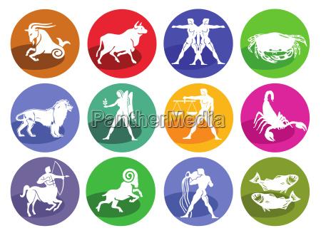 lastrologia oroscopo set di icone