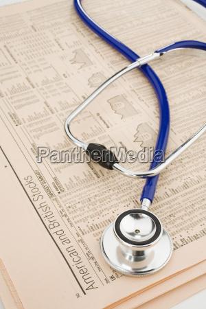 stetoscopio sui rapporti di riserva vista