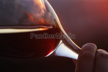 germany mature woman holding red wine