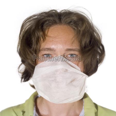 woman wearing a mask portrait