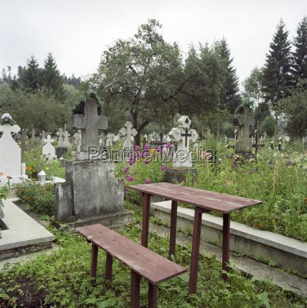 romania vista del cimitero