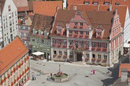 germany bavaria allgaeu memmingen old town