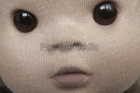 primo piano del viso da bambola