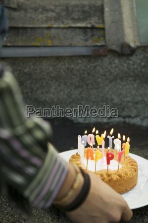 candela piatto festa fotografia foto perpendicolare