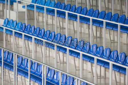 sedute nello stadio di sport close