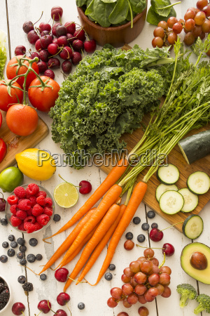 natura morta freschezza frutta perpendicolare verdura