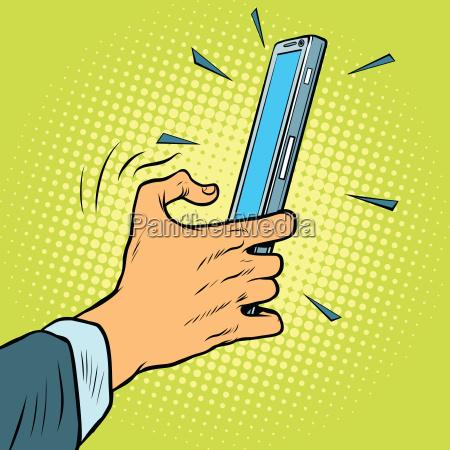 gesto tattile su uno smartphone