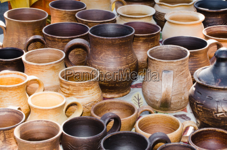 tradizionale cibo pasto rustico argilla bottega