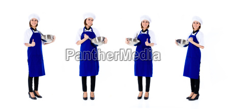 asian chef woman isolated occupation series