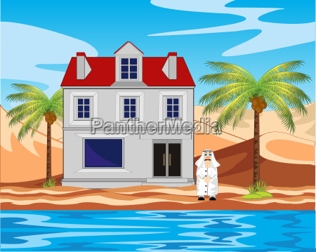 deserto persona palma albergo acqua salata