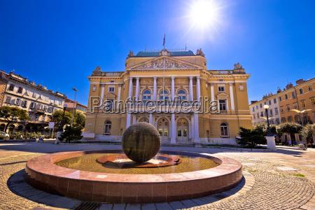 teatro, nazionale, croato, a, vista, quadrata - 21744409
