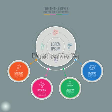concetto creativo per infographic timeline infographic