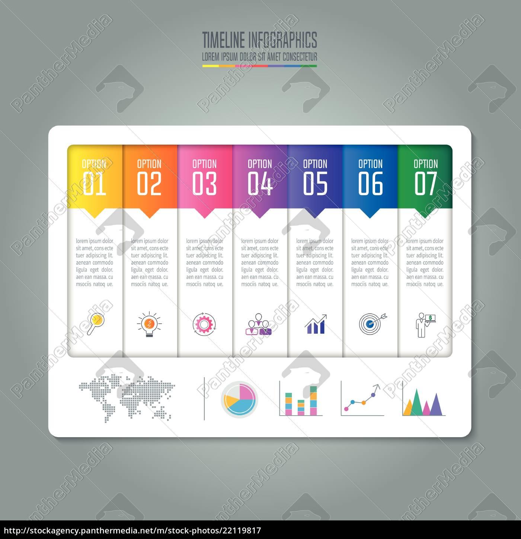 concetto, creativo, per, infografica., timeline, infografica - 22119817
