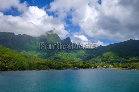 tropicale laguna isola paesaggio natura polinesia