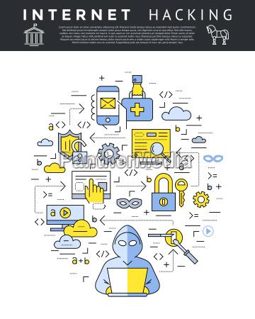 digitale vector blu internet sicurezza dati