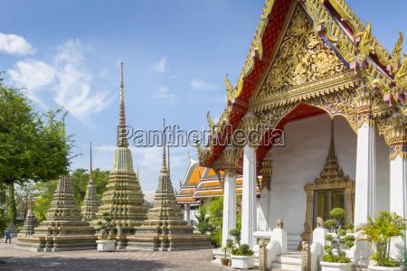 wat pho wat po bangkok thailand