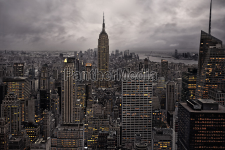 skyline di new york dallalto new