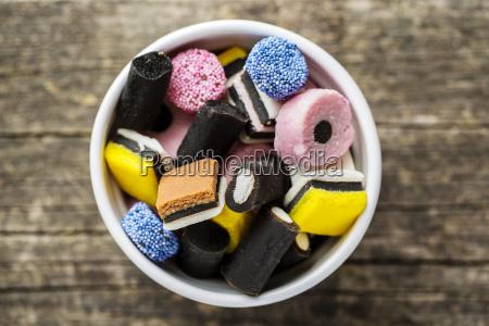 cibo dolce caramella carino liquirizia trattare