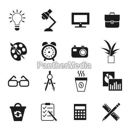 icone di spazio di lavoro vettoriale