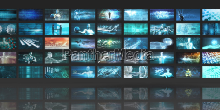 concetto di tecnologia multimediale