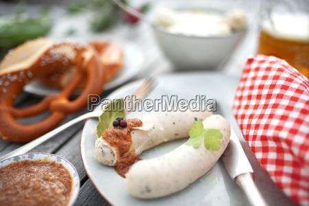 salsiccia bianca con senape dolce