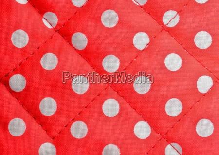 tela di canapa polka rossa