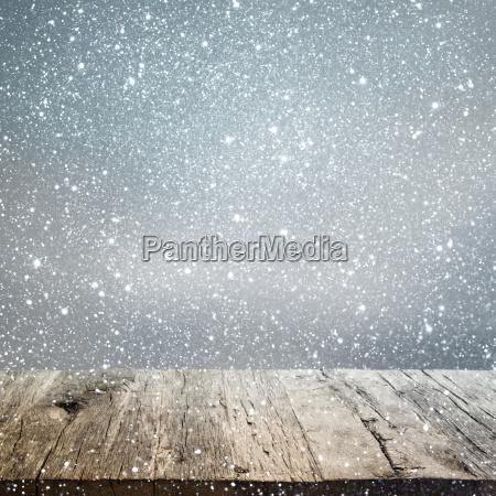 sfondo invernale astratto con un vecchio