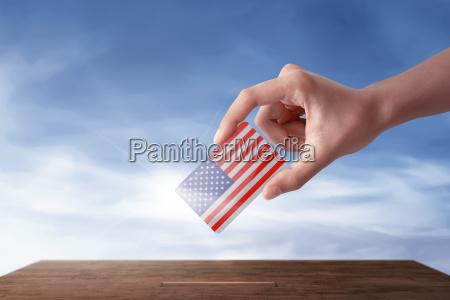 donna blu mano americano stati uniti